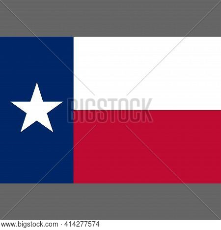State Flag Of Texas. Lone Star Flag. Digital Reproduction. Vector.