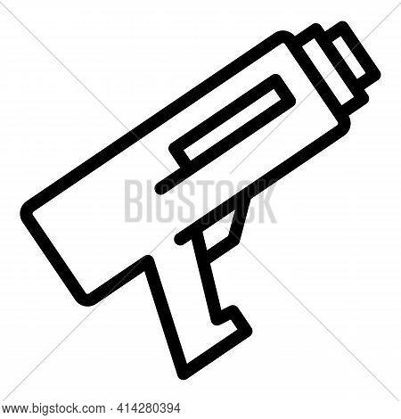 Caulk Gun Construction Icon. Outline Caulk Gun Construction Vector Icon For Web Design Isolated On W