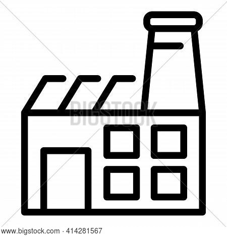 Textile Factory Icon. Outline Textile Factory Vector Icon For Web Design Isolated On White Backgroun