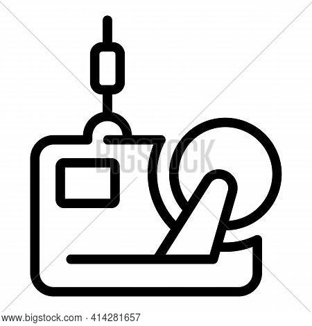 Textile Mill Equipment Icon. Outline Textile Mill Equipment Vector Icon For Web Design Isolated On W
