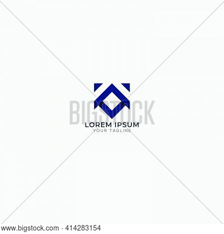 Abstract Fox Logo Square Modern Vector Animal