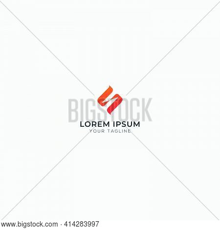 Abstract Simple Letter N S Logo Modern