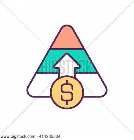 Capital Raising Rgb Color Icon. Equity Financing. Company Viability. Raising Funding For Business. O