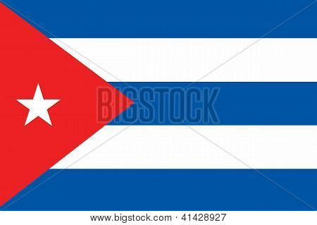Illustrated Drawing of the flag of Cuba