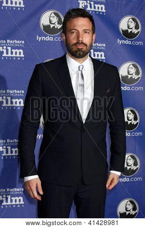SANTA BARBARA - JAN 25:  Ben Affleck arrives at the 2013 SBIFF Modern Masters Award presented to Ben Affleck at Arlington Theater on January 25, 2013 in Santa Barbara, CA