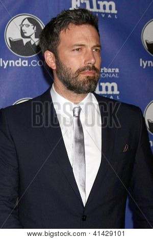 SANTA BARBARA - JAN 25:  Ben Affleck arrives at the 2013 SBIFF Modern Masters Award presented to Ben Affleck at Arlington Theater on January 25, 2013 in Santa Barbara, CA