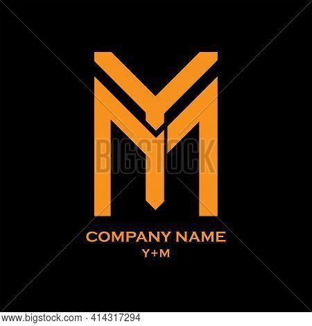 Y M Letter Logo Vector. Y M Illustration Logo Business
