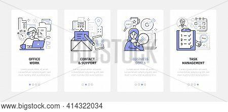 Efficient Workflow - Modern Line Design Style Web Banners