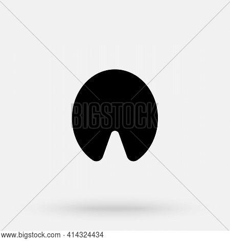 Vector Illustration. Horse Paw Logo. Black Icon On White Background. Animal Hoof Paw Print.