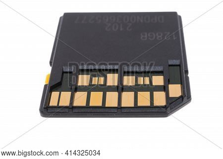 Memory Card Device Isolated On White Background