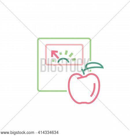 Diet And Weight Loss Icon. Linear Medical Pictogram.