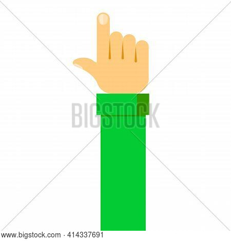 Touch Icon Concept. Vector Illustration. Push Or Press Sign. Finger Presses.