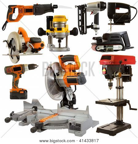 Power Tools Isolated On A White Background