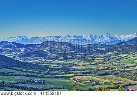 Skyline Of Seyne Les Alpes In The French Region Provence Des Haut Alpes