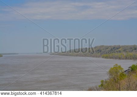View Of Mississippi River From Natchez In Adams County, Mississippi