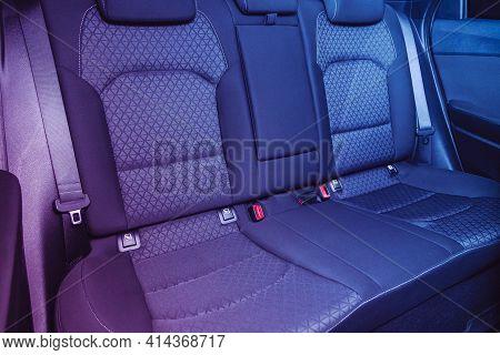 Novosibirsk, Russia - March 26  2021: Kia Ceed,  Comfort Car Inside. Clean Car Interior: Black Back