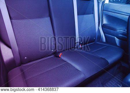 Novosibirsk, Russia - March 26  2021: Mitsubishi Asx, Comfort Car Inside. Clean Car Interior: Black