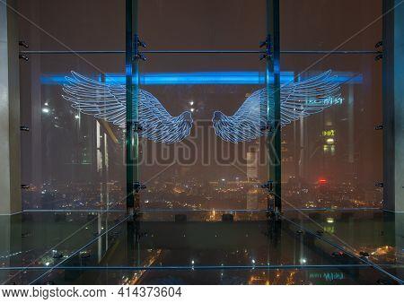 Hanoi, Vietnam : March-28-2019 : Tourist Attraction Spot On 65th Floor Of Lotte Center Hanoi The Sec