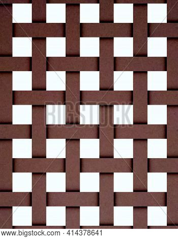 Full Frame Rattan Weave Background And Textures.