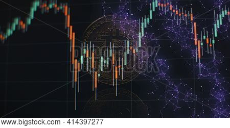Bitcoin And Cryptocurrency Investing Concept. Crypto Currency Bitcoin, Btc, Bit Coin. Crypto Mining