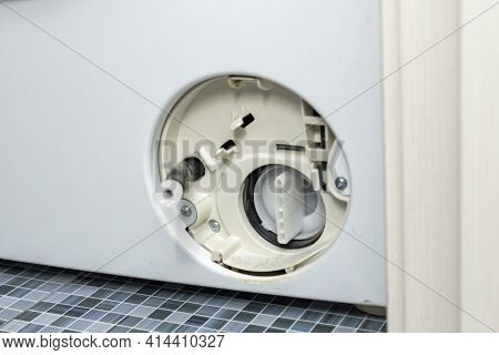 The Filter Of The Washing Machine Is Clogged.