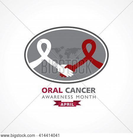 Vector Illustration Of Oral Cancer Awareness Month Observed In April Every Year