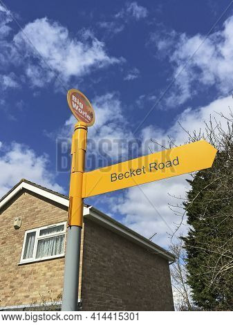 Weston-super-mare, Uk - March 25, 2021: A Sign Installed As Part Of Big Worle, A Community Project F