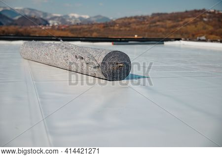 Geotextile For Roof, Covered With Synthetic Pvc Membrane