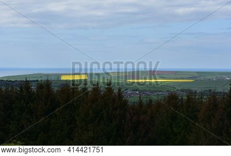 Scenic Patchwork Of Colorful Fields From Dent Hills.