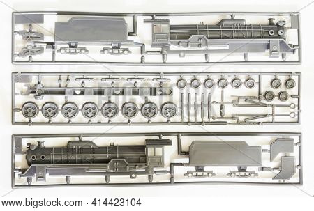 D51 Japanese Steam Locomotive Plastic Model Parts. D51 Was The First Completed Japanese  Steam Locom