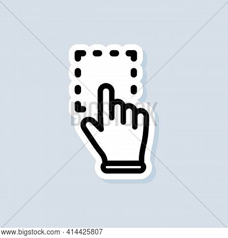 Click Mouse Pointer Sticker. Clicking Finger Icon, Cursor. Hand Pointer, Clicking Icons. Vector On I