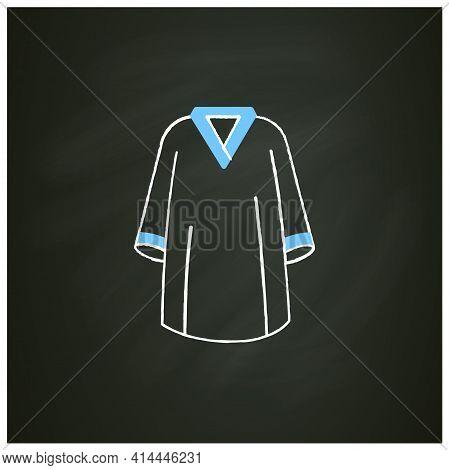 Graduation Dress Chalk Icon. Special Graduate Mantle. Holiday Costume. Graduate Uniform.graduation C