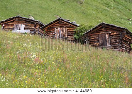 Mountain huts in South Tyrol, Italy