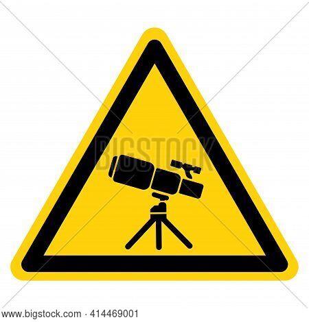 Telescope Symbol Sign,vector Illustration, Isolate On White Background Label. Eps10