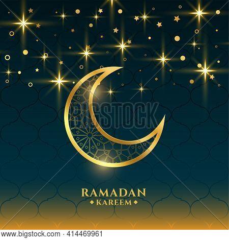 Beautiful Ramadan Kareem Holy Season Greeting Card Design