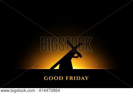 Jesus Carrying Cross For His Crucifixion Background