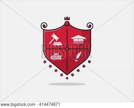 Elegant Badge Design For High School Education Graduates In Maritime Science, Law, Study, University