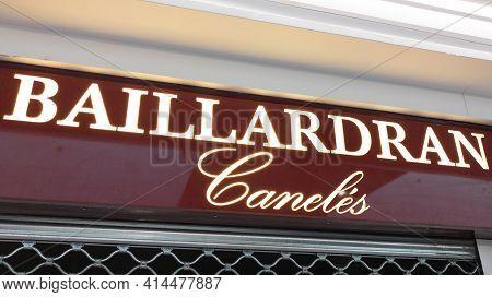 Bordeaux , Aquitaine France - 03 25 2021 : Baillardran French Pastry Of Bordeaux City Shop Logo Text