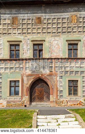 Renaissance facade in Levoca, UNESCO site, Slovakia