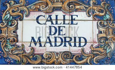 Ornate Spanish street sign