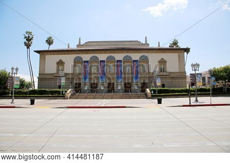 Pasadena CA - MARCH 26, 2021:The Auditorium of the city of Pasadena in Pasadena California. Editorial Use Only.
