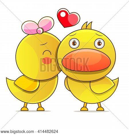 Duck, Duck, Goose Funny Cartoon Children Game Illustration. Cute Vector Birds