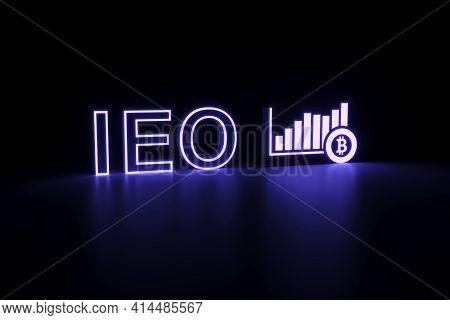 Ieo Neon Concept Self Illumination Background 3d Illustration