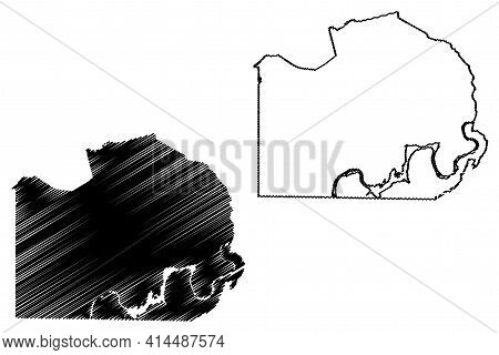 Marion County, State Of Tennessee (u.s. County, United States Of America, Usa, U.s., Us) Map Vector
