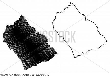 Morgan County, State Of Tennessee (u.s. County, United States Of America, Usa, U.s., Us) Map Vector