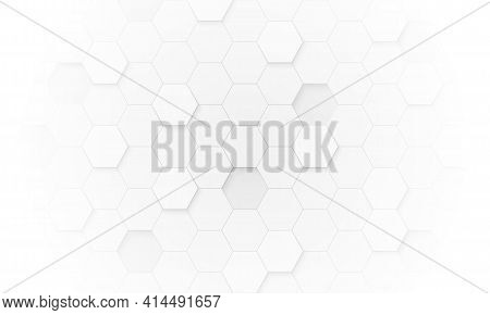 Hexagon Pattern. Abstract Hexagonal Background And Texture.