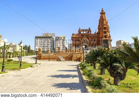 Cairo - Egypt - October 06, 2020: Misr Al Gadida, Al Montaza, Beautiful View Of Baron Empain Palace