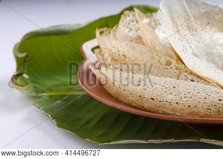 Appam Or Velliappam Or Kallappam  Or Paalappam, Tasty Delicious Breakfast Item Which Is Main Breakfa