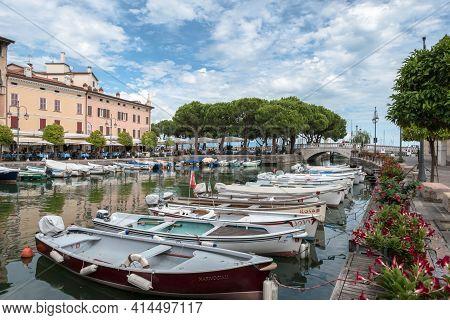 Porto Vecchio Di Desenzano. Desenzano Del Garda (bs), Italy - August 24, 2020.