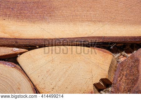 Wooden Textured Background From Old Prefabricated Hot Dish Stand Close-up Macro Photography